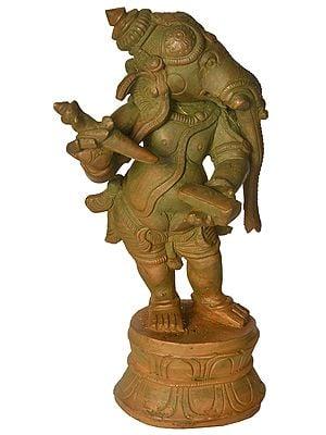 Ganesha with Long Trunk Writing The Mahabharata