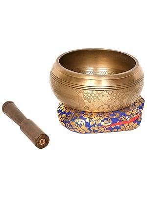 Earth Touching Buddha Tibetan Buddhist Singing Bowl (Made in Nepal)