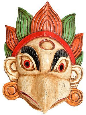 Wrathful Garuda Wall Hanging Mask from Nepal