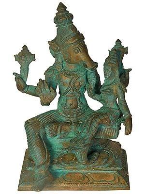 Lord Varaha with Goddess Lakshmi