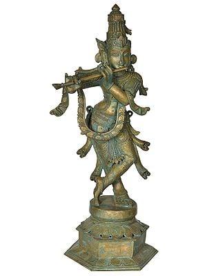 The Lithe Tribhanga Murari Lord Krishna