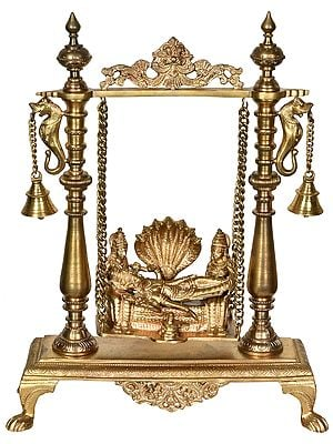 Shesha-Shayi Vishnu on a Swing