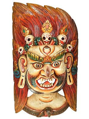 Tibetan Buddhist - Large Size Mahakala Mask (From Nepal)