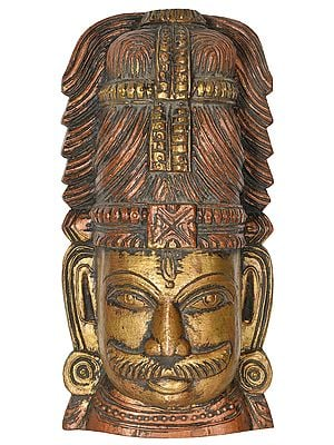 Virabhadra Wall Hanging Mask