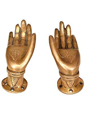Buddha Hands Door Knob