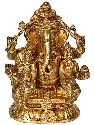 Ganesha with Riddhi Siddhi