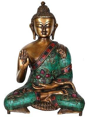 Lord Buddha Granting Abhaya (Tibetan Buddhist)