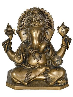 Ganesha Wearing A Kirtimukha Crown