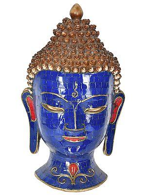 Preaching Buddha Wall Hanging Mask from Nepal (Tibetan Buddhist)