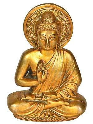 Preaching Buddha Wall Hanging Flat Statue (Tibetan Buddhist)