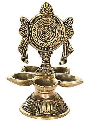 Vaishnava Chakra Wick Lamp