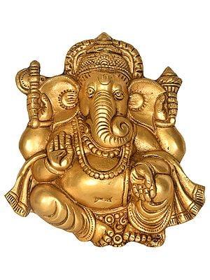 Lord Ganesha Wall Hanging (Flat Statue)