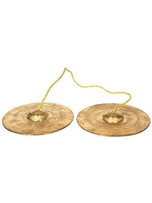 Large Size Bronze Cymbals for Bhajan Kirtan