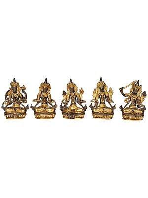 Set of Five Bodhisattvas Deities