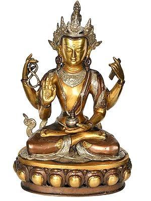 A Composite Image of Tibetan Buddhist Deity