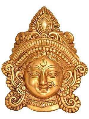 Goddess Durga Wearing A Nose ring - Wall Hanging Mask