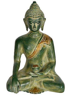 Tibetan Buddhist Lord Buddha in Earth Touching Gesture