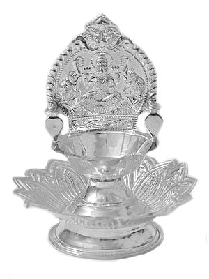 Gajalakshmi Puja Lamp with Lotus Stand
