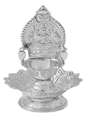 Gajalakshmi Wick Lamp with Lotus Stand