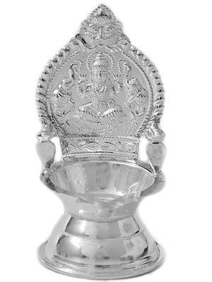 Gajalakshmi Small Puja Lamp