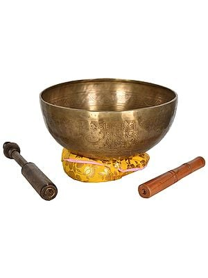 Tibetan Buddhist OM Fine Nepalese Singing Bowl