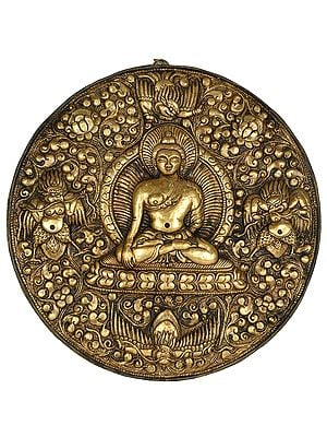 Lord Buddha with Garuda Wall Hanging Plate from Nepal
