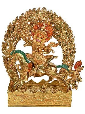 Tibetan Buddhist Deity Palden Lhamo: The Protectress of the Dalai Lamas - Made in Nepal