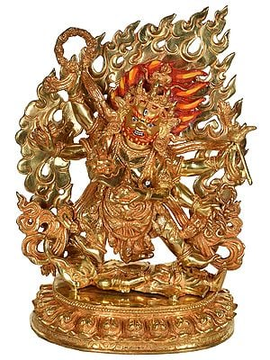 Six Armed Mahakala from Nepal - Tibetan Buddhist Deity