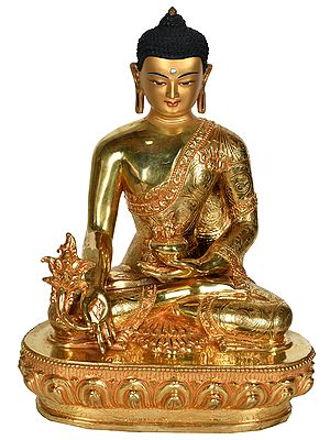 (Made in Nepal) Tibetan Buddhist Deity Medicine Buddha