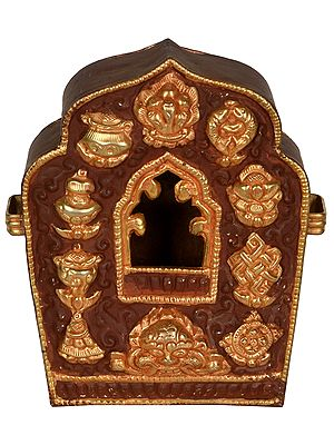Made in Nepal Tibetan Buddhist Gau Box (Portable Shrine)