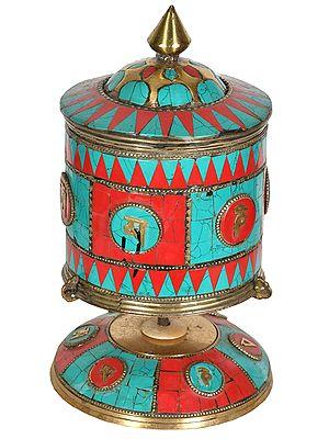 Made in Nepal Tibetan Buddhist Prayer Wheel