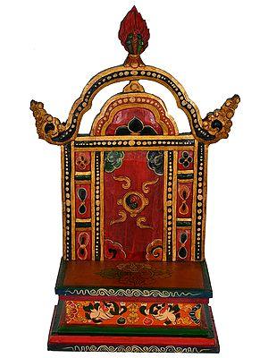 Tibetan Buddhist Deity Throne (Made in Nepal)