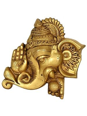 Blessing Ganesha Wall Hanging  Mask