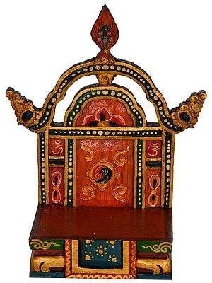 Tibetan Buddhist Deity Throne from Nepal
