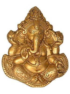 Ashirwad Ganesha (Wall Hanging Flat Statue)