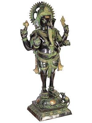 Chaturbhuja Standing Ganesha (Large Size)