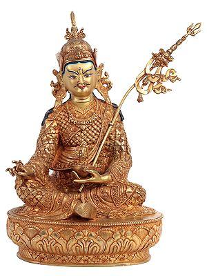 Tibetan Buddhist Guru Padmasambhava with Superfine Carving - Made in Nepal