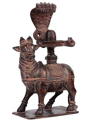 Nandi with Shiva Linga For Abhisheka