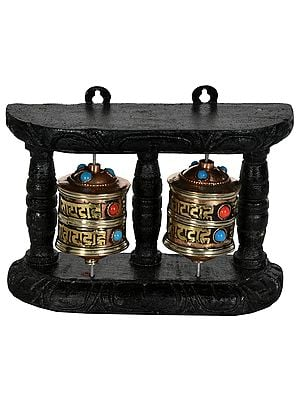 Tibetan Buddhist Prayer Wheel (Made in Nepal)