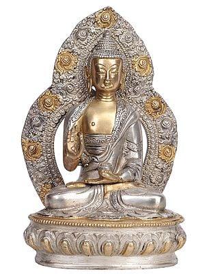 Preaching Buddha with Aureole (Tibetan Buddhist)