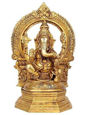 Lord Ganesha with Aureole