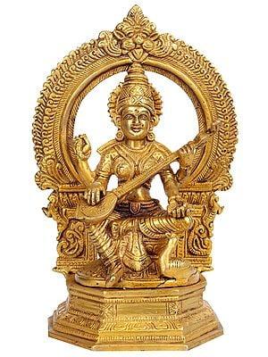 Goddess Saraswati with Aureole