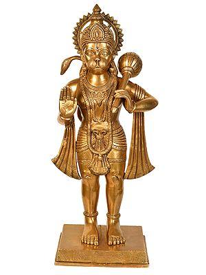 Large Size Hanuman Granting Abhaya (Large Size)