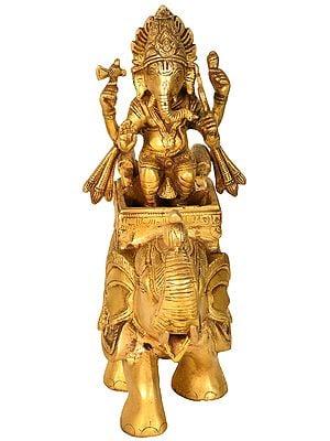 Ganesha On an Elephant Palki