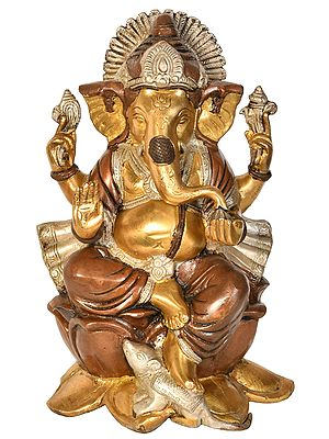 Ganesha Seated on Lotus