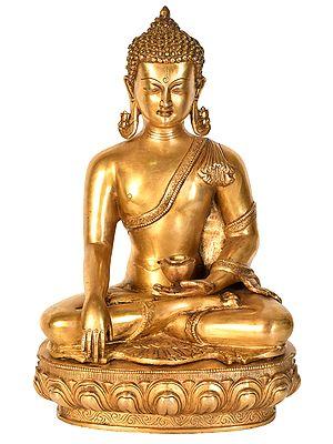 Tibetan Buddhist Deity Buddha in Bhumisparsha Mudra
