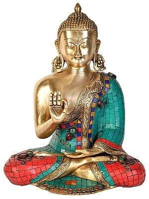 Tibetan Buddhist Lord Buddha Preaching His Dharma