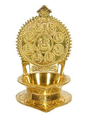 Ashtalakshmi Ganesha Lamp