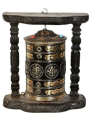 Made in Nepal Enshrined Prayer Wheel (Tibetan Buddhist)