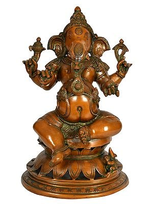 Ganesha Seated on Lotus Pedestal